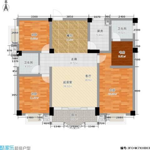 广场新天地3室0厅2卫1厨136.00㎡户型图