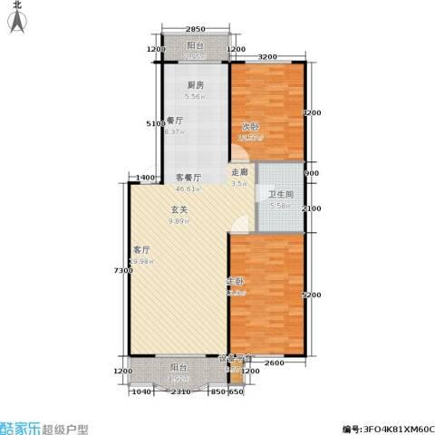 鑫丰金园2室1厅1卫0厨101.00㎡户型图