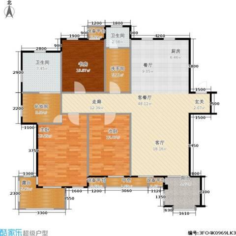唯美品格3室1厅2卫0厨166.00㎡户型图