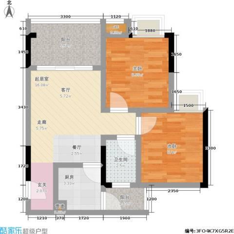 荣涛・丽苑2室0厅1卫1厨49.00㎡户型图