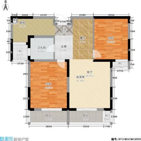 华夏春晓二期2室0厅1卫0厨101.00㎡户型图
