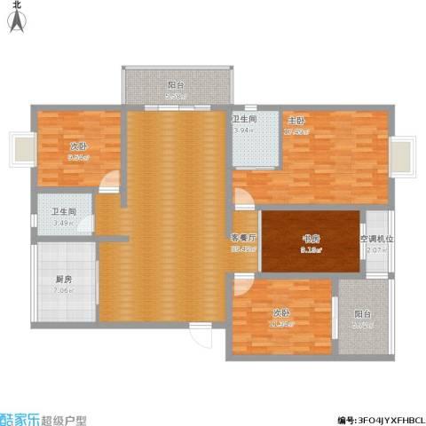 江南名府4室1厅2卫1厨164.00㎡户型图