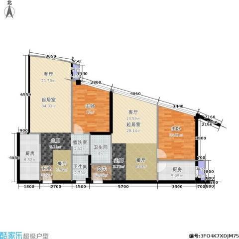 泰时・三湘金地2室0厅2卫2厨106.78㎡户型图