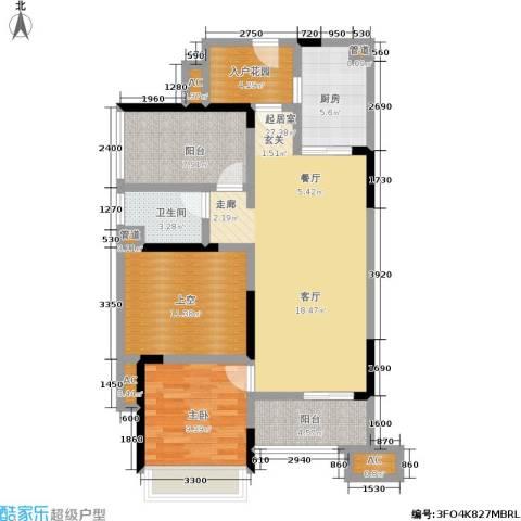 万科金域华府1室0厅1卫1厨112.00㎡户型图
