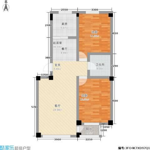 金润花园二期2室0厅1卫1厨96.00㎡户型图