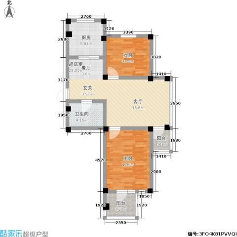 金润花园二期2室0厅1卫1厨89.00㎡户型图