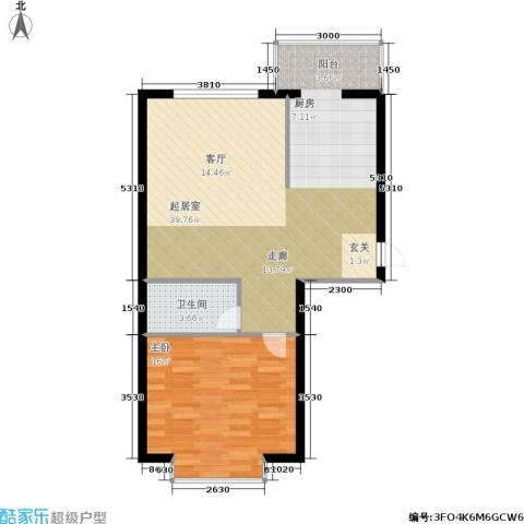 柒季城1室0厅1卫0厨65.00㎡户型图
