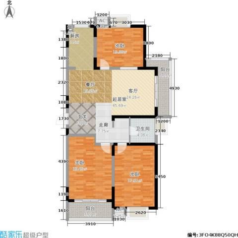 华夏春晓二期3室0厅1卫0厨125.00㎡户型图