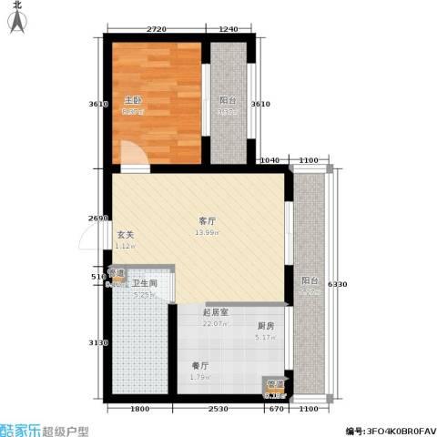 阳光帕提欧1室0厅1卫0厨66.00㎡户型图