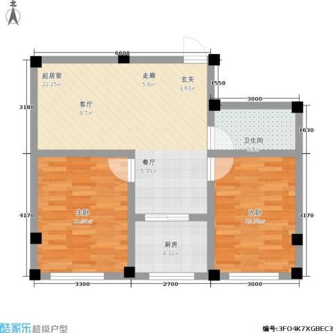 金润花园二期2室0厅1卫1厨77.00㎡户型图