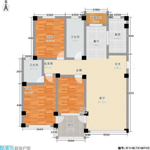 金润花园二期3室0厅2卫1厨163.00㎡户型图