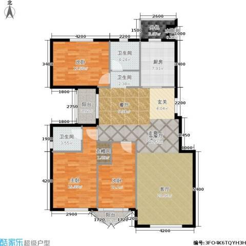润德北京公园3室1厅2卫1厨136.00㎡户型图