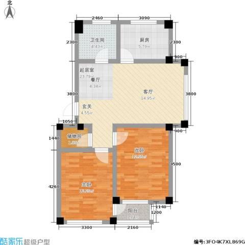 金润花园二期2室0厅1卫1厨92.00㎡户型图