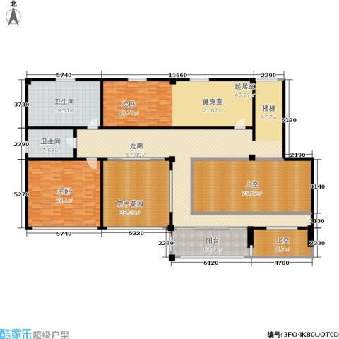 金鸡湖花园1室0厅2卫0厨260.00㎡户型图