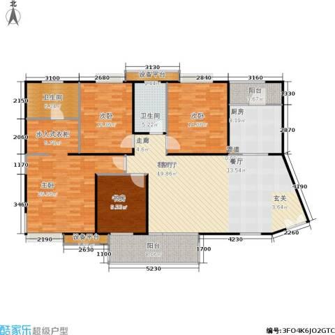 枫林绿洲A9公馆4室1厅2卫1厨147.00㎡户型图