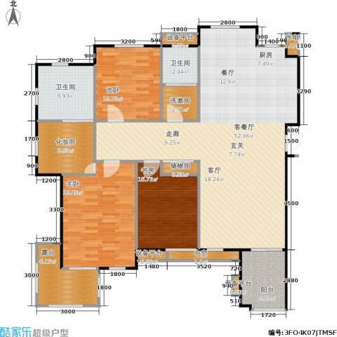 唯美品格3室1厅2卫0厨170.00㎡户型图
