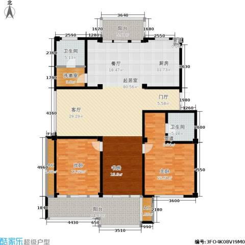 金鸡湖花园2室0厅2卫0厨180.00㎡户型图
