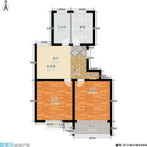 华夏春晓二期2室0厅1卫1厨89.00㎡户型图