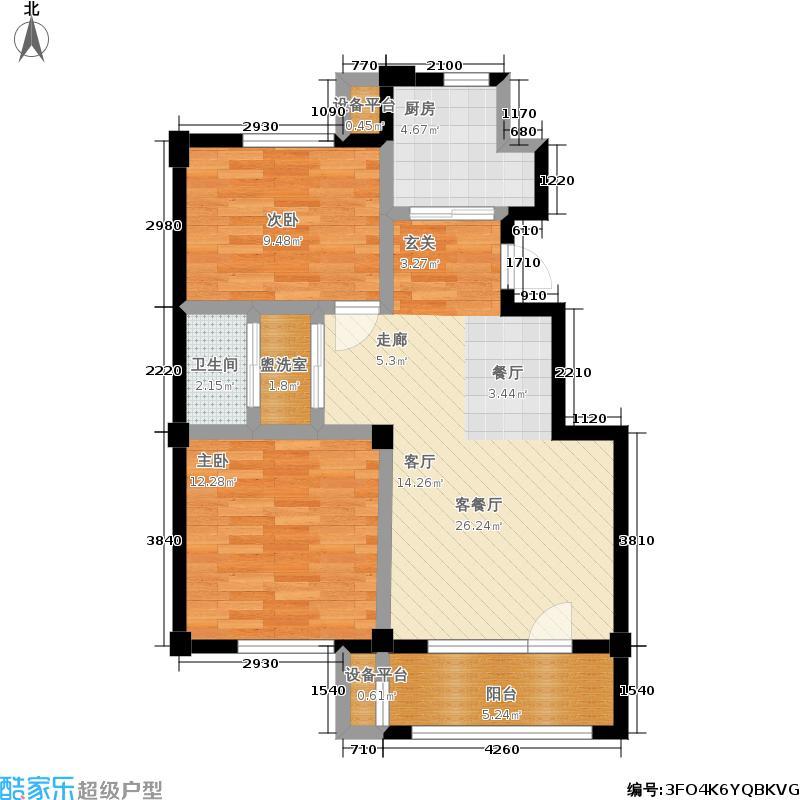 湾西湖户型2室1厅1卫1厨