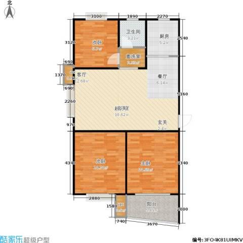 万汇秀林水苑3室0厅1卫1厨96.00㎡户型图