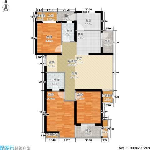 紫晶・天域3室0厅2卫1厨110.31㎡户型图