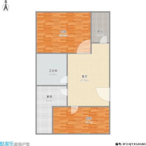 友谊苑2室1厅1卫1厨131.00㎡户型图