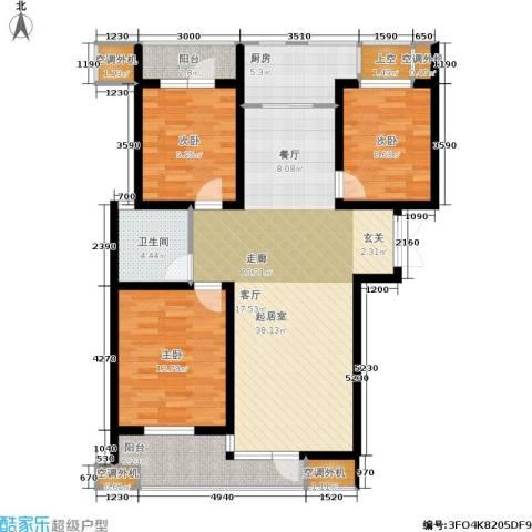 紫晶・天域3室0厅1卫1厨106.20㎡户型图
