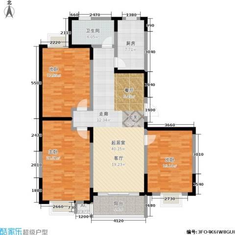 华夏春晓二期3室0厅1卫1厨130.00㎡户型图