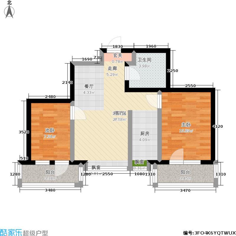 渤海计划东方湾(商业)渤海计划东方湾户型2室1卫