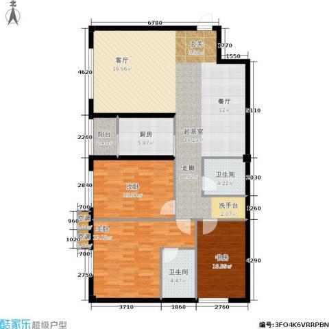 鑫源银座3室0厅2卫1厨149.00㎡户型图