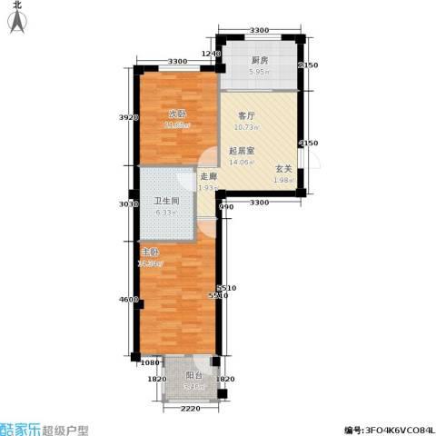 金润花园一期2室0厅1卫1厨79.00㎡户型图