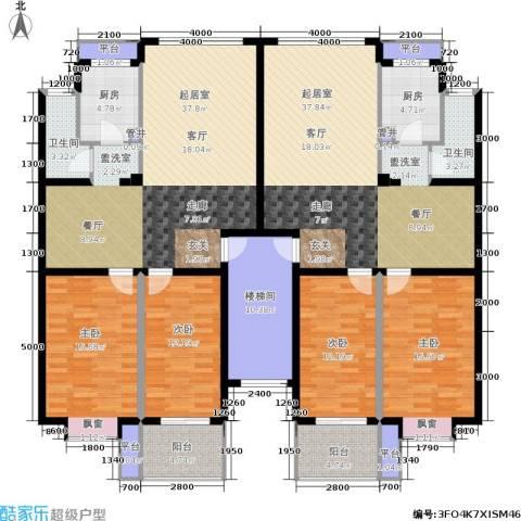 泰时・三湘金地4室0厅2卫2厨171.77㎡户型图