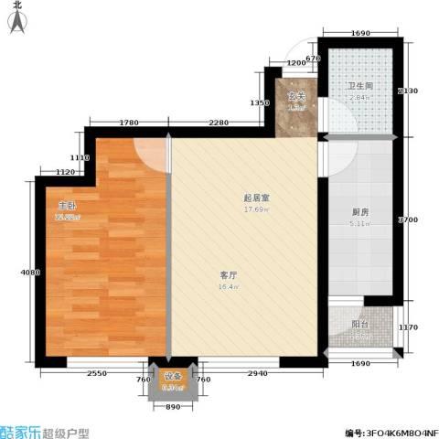 财富天地1室0厅1卫1厨46.00㎡户型图