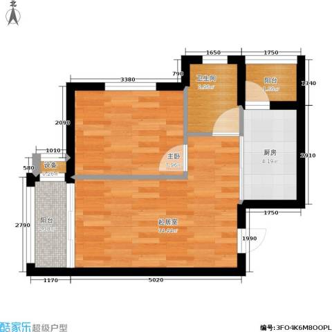 财富天地1室0厅1卫1厨41.00㎡户型图