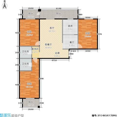 锋华城3室1厅2卫1厨135.00㎡户型图