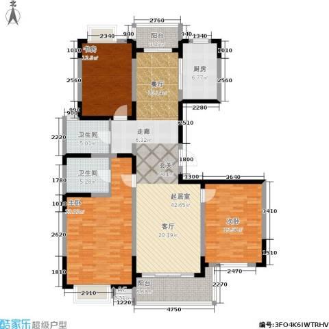 华夏春晓二期3室0厅2卫1厨139.00㎡户型图