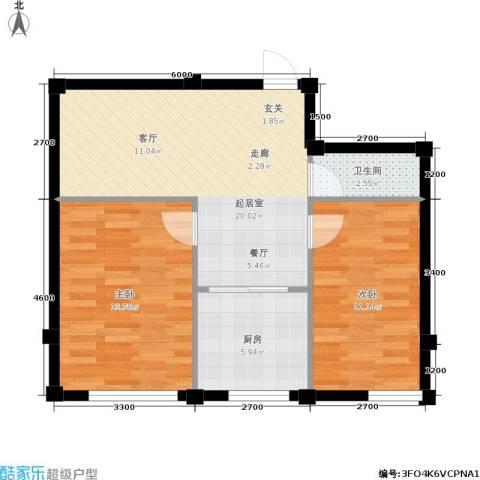 金润花园一期2室0厅1卫1厨74.00㎡户型图