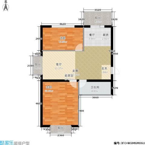 柒季城2室0厅1卫0厨81.00㎡户型图