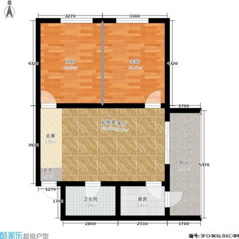 MINI国度2室0厅1卫1厨73.00㎡户型图