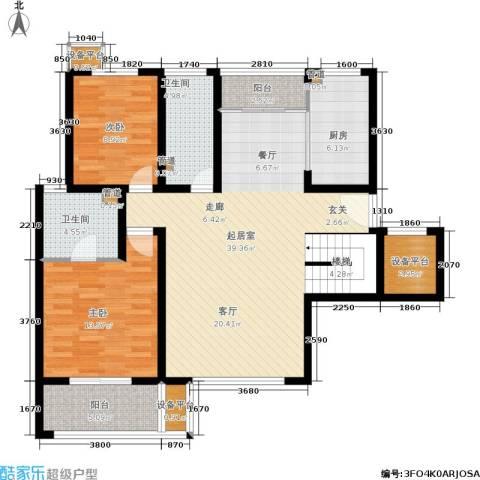 锦悦苑2室0厅2卫1厨194.00㎡户型图