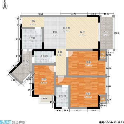 五童路后勤基地3室0厅3卫0厨99.39㎡户型图
