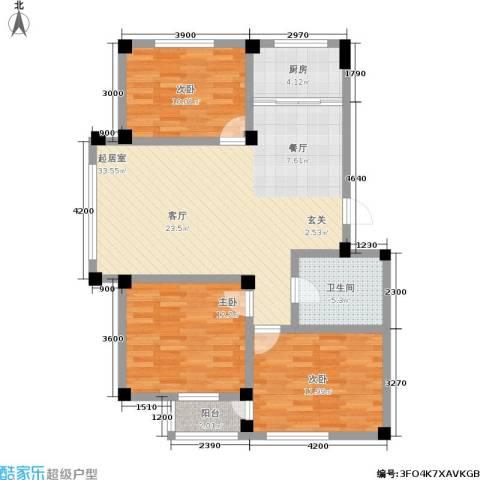 金润花园二期3室0厅1卫1厨114.00㎡户型图