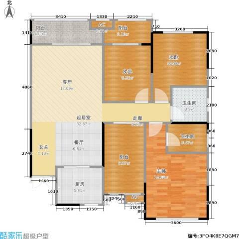 中豪城南时代3室0厅2卫1厨123.00㎡户型图
