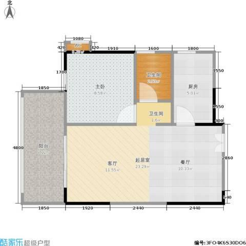 中豪城南时代1室0厅1卫1厨65.00㎡户型图
