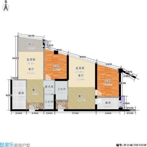 泰时・三湘金地2室0厅2卫2厨103.79㎡户型图