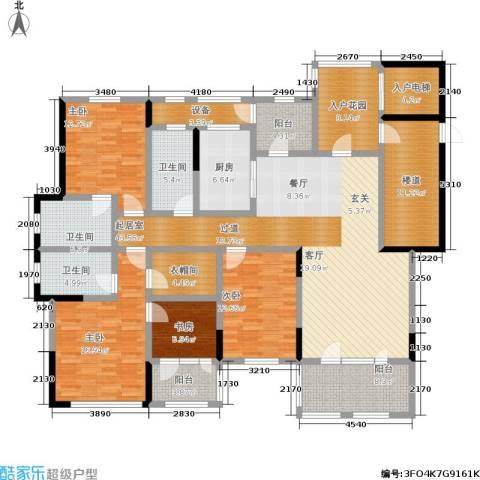 中建悦海和园4室0厅3卫1厨189.34㎡户型图