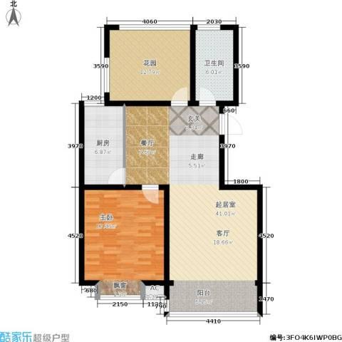 华夏春晓二期1室0厅1卫1厨95.00㎡户型图