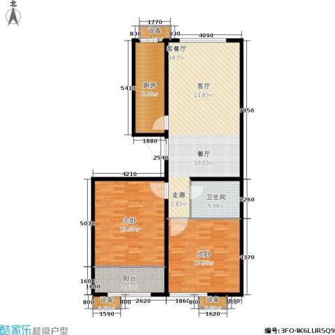 大舜天成中国盒子2室1厅1卫1厨131.00㎡户型图