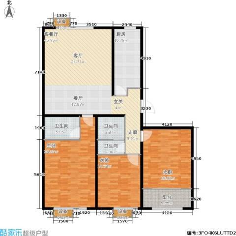 大舜天成中国盒子3室1厅3卫1厨185.00㎡户型图
