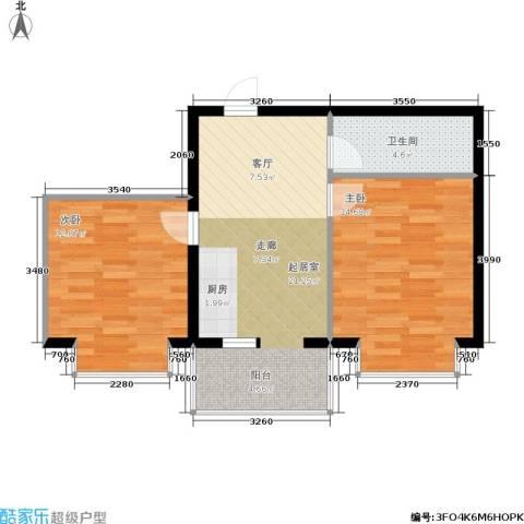 柒季城2室0厅1卫0厨59.00㎡户型图